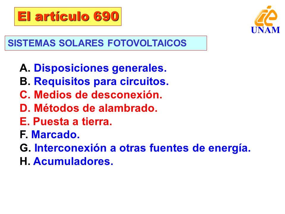 El artículo 690 A. Disposiciones generales.