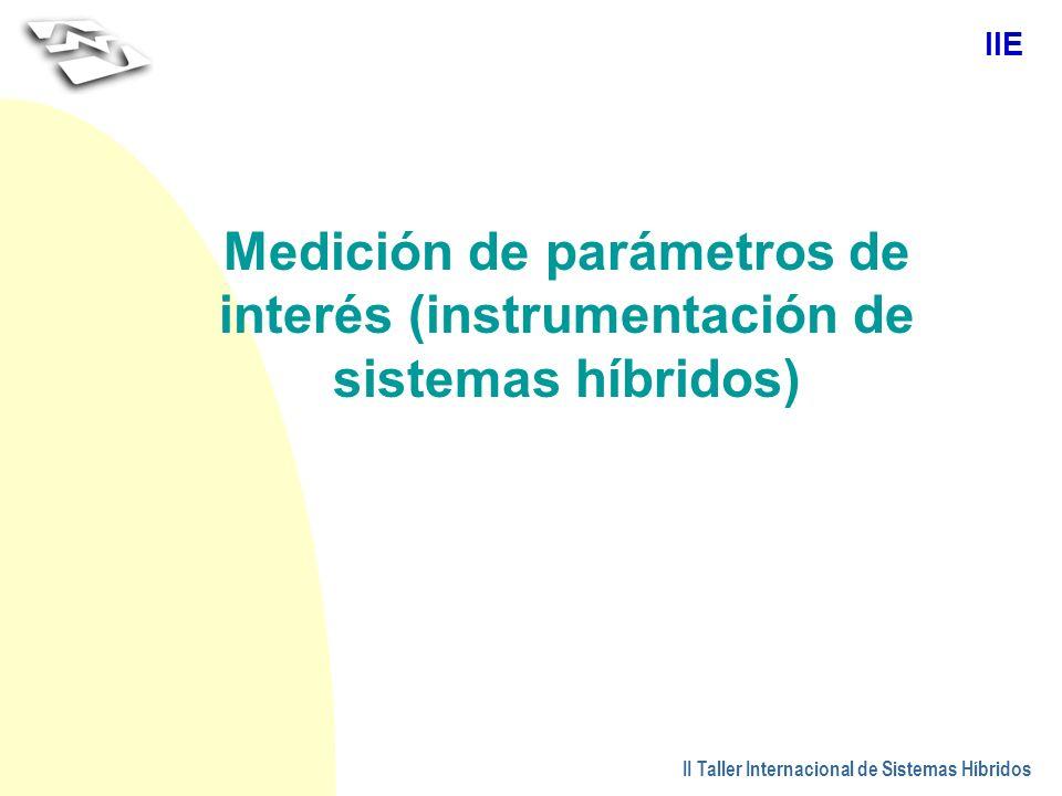 Medición de parámetros de interés (instrumentación de sistemas híbridos)