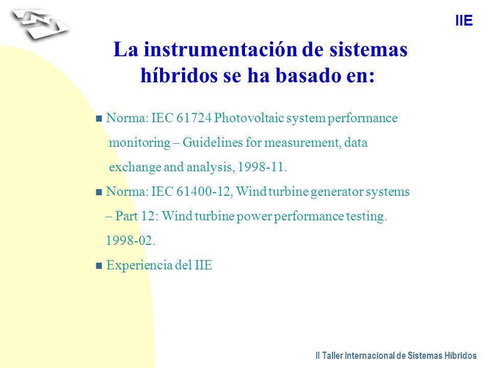 La instrumentación de sistemas híbridos se ha basado en: