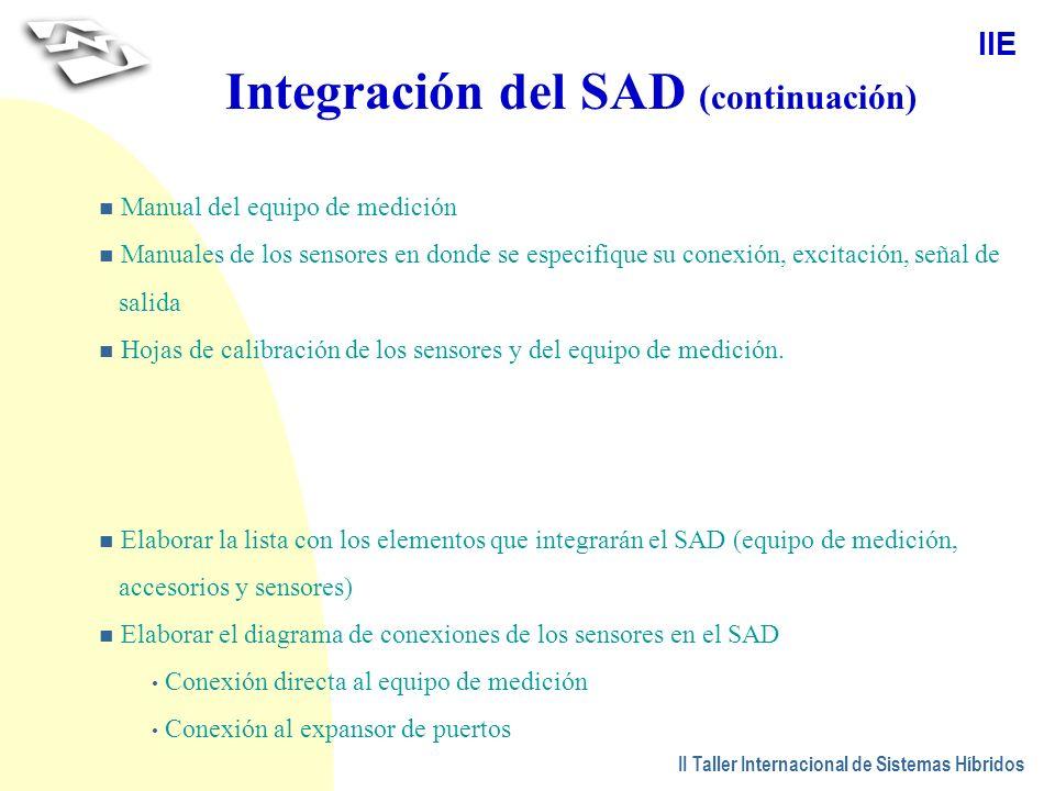Integración del SAD (continuación)