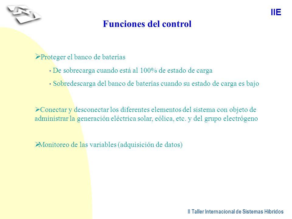 Funciones del control Proteger el banco de baterías