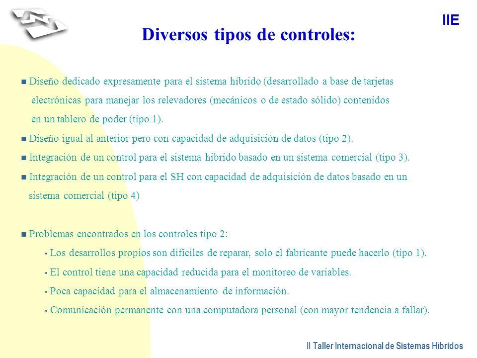 Diversos tipos de controles: