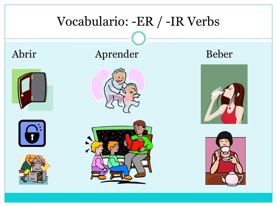 Vocabulario: -ER / -IR Verbs