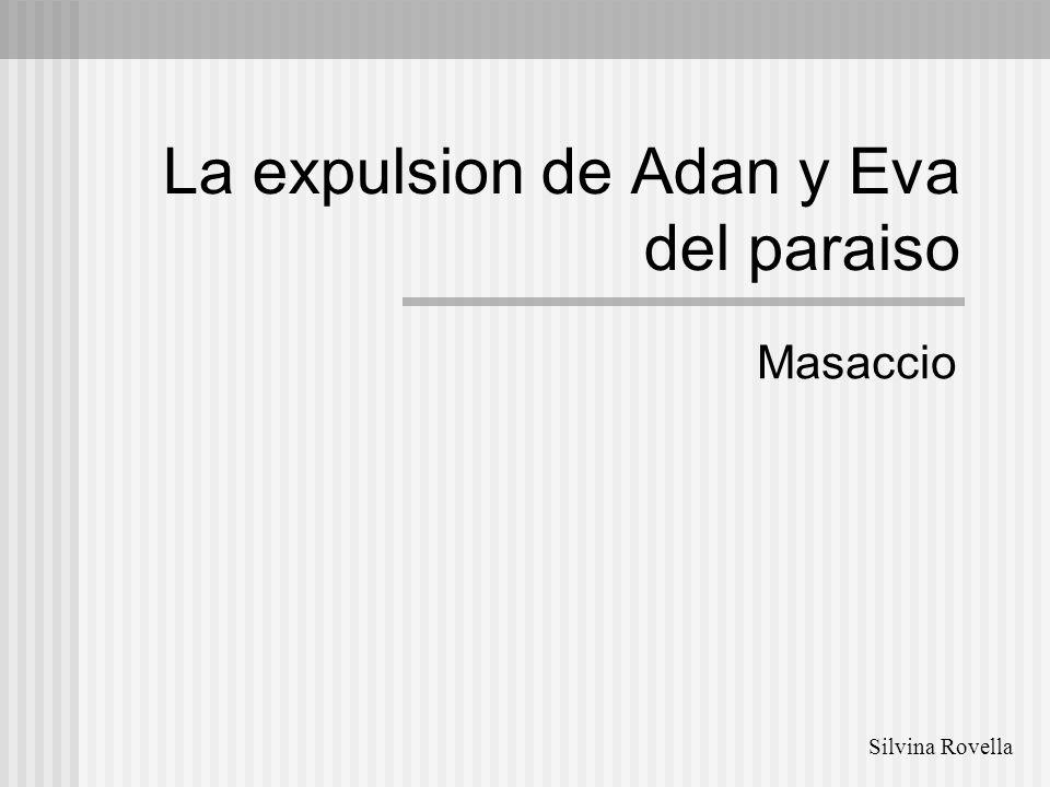 La expulsion de Adan y Eva del paraiso