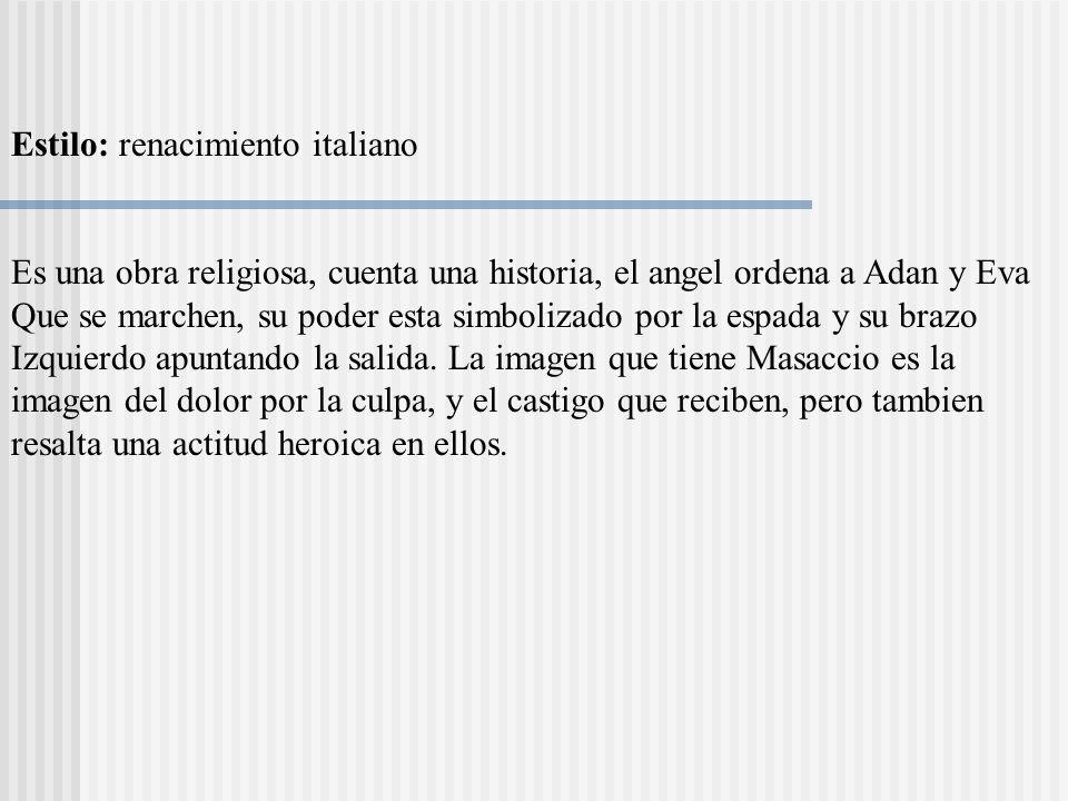 Estilo: renacimiento italiano