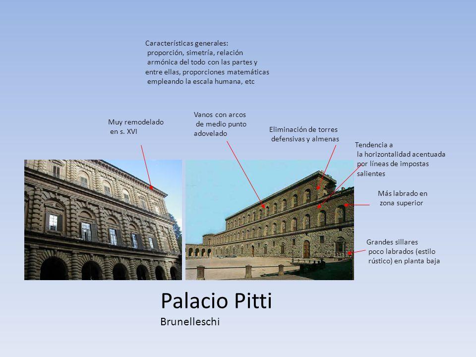 Palacio Pitti Brunelleschi Características generales: