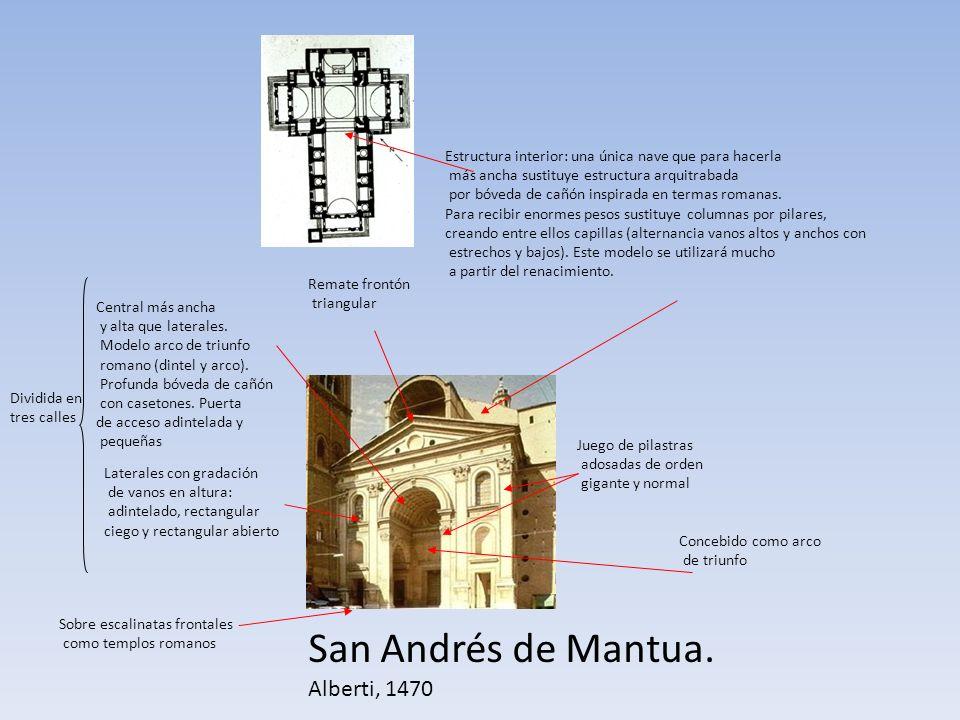 San Andrés de Mantua. Alberti, 1470