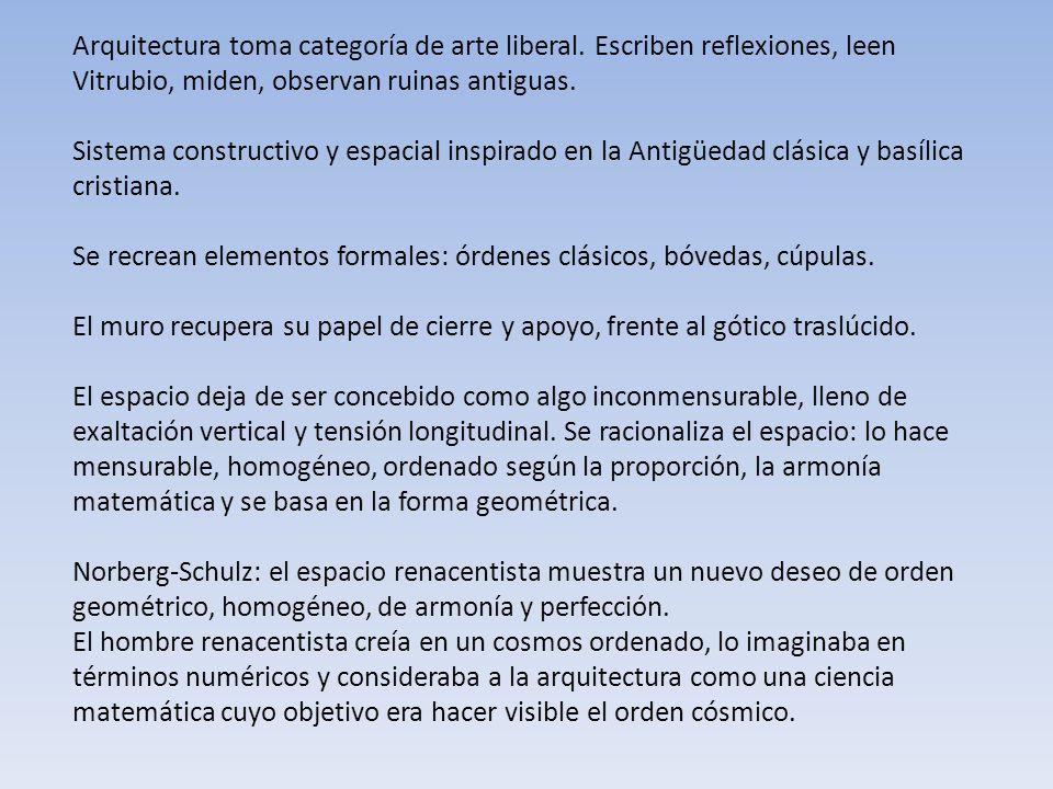Arquitectura toma categoría de arte liberal