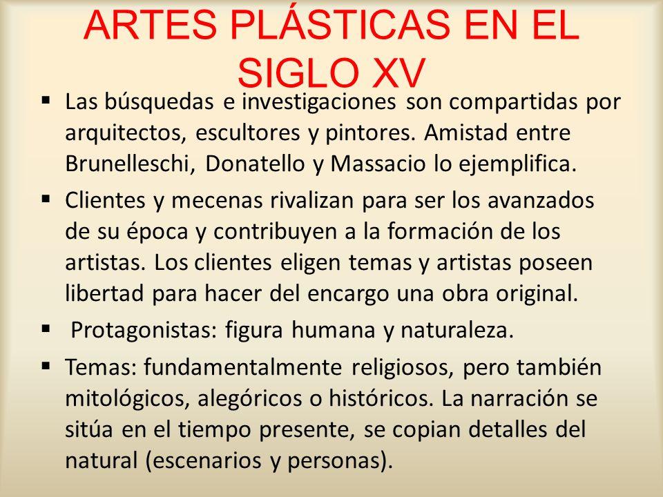 ARTES PLÁSTICAS EN EL SIGLO XV