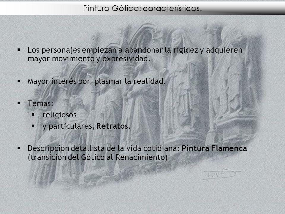 Pintura Gótica: características.