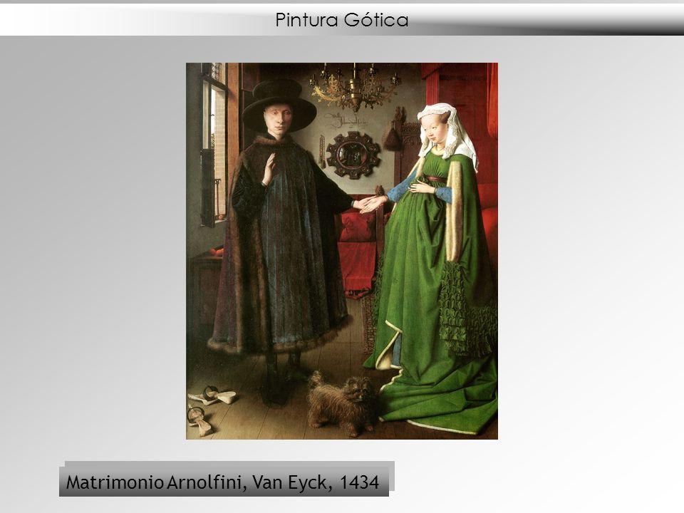 Pintura Gótica Matrimonio Arnolfini, Van Eyck, 1434