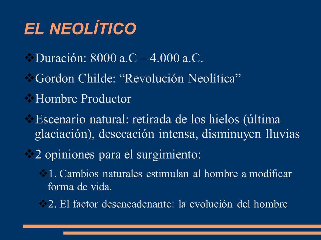 EL NEOLÍTICO Duración: 8000 a.C – 4.000 a.C.