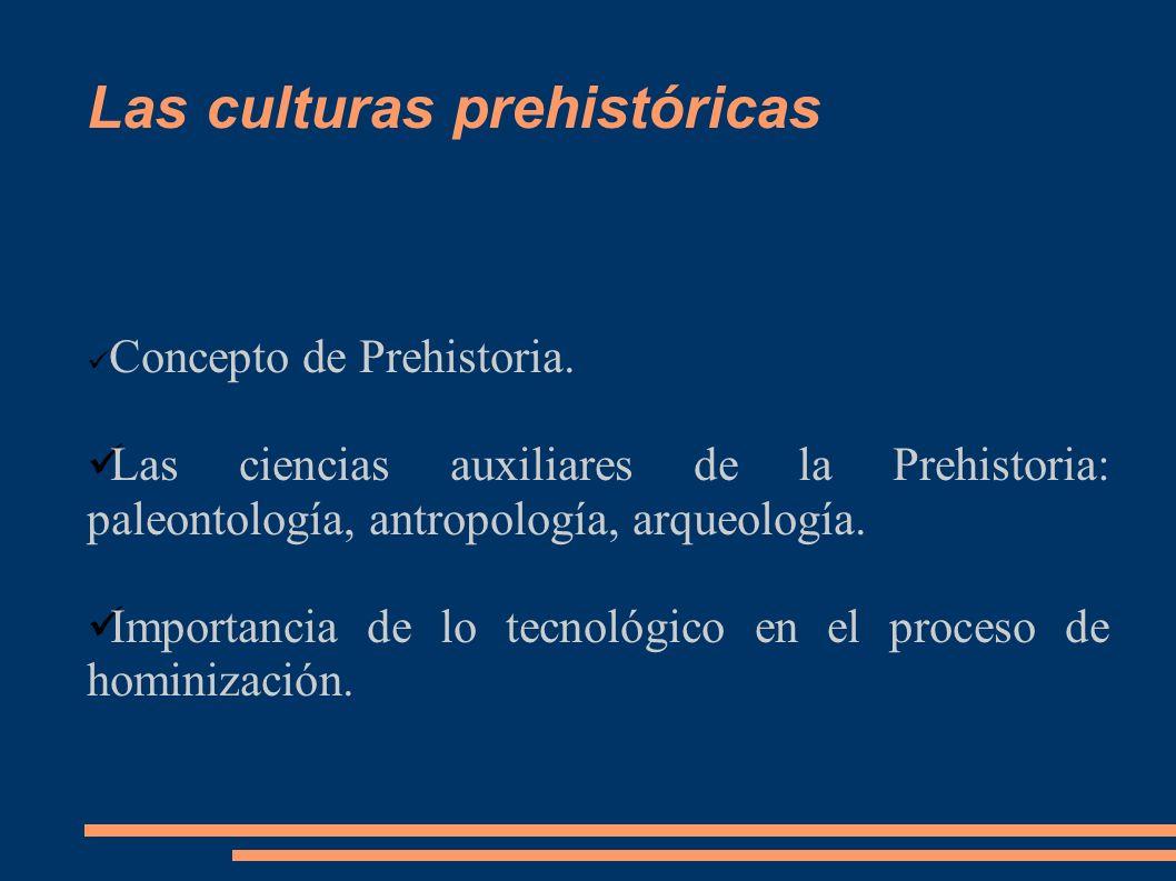 Las culturas prehistóricas