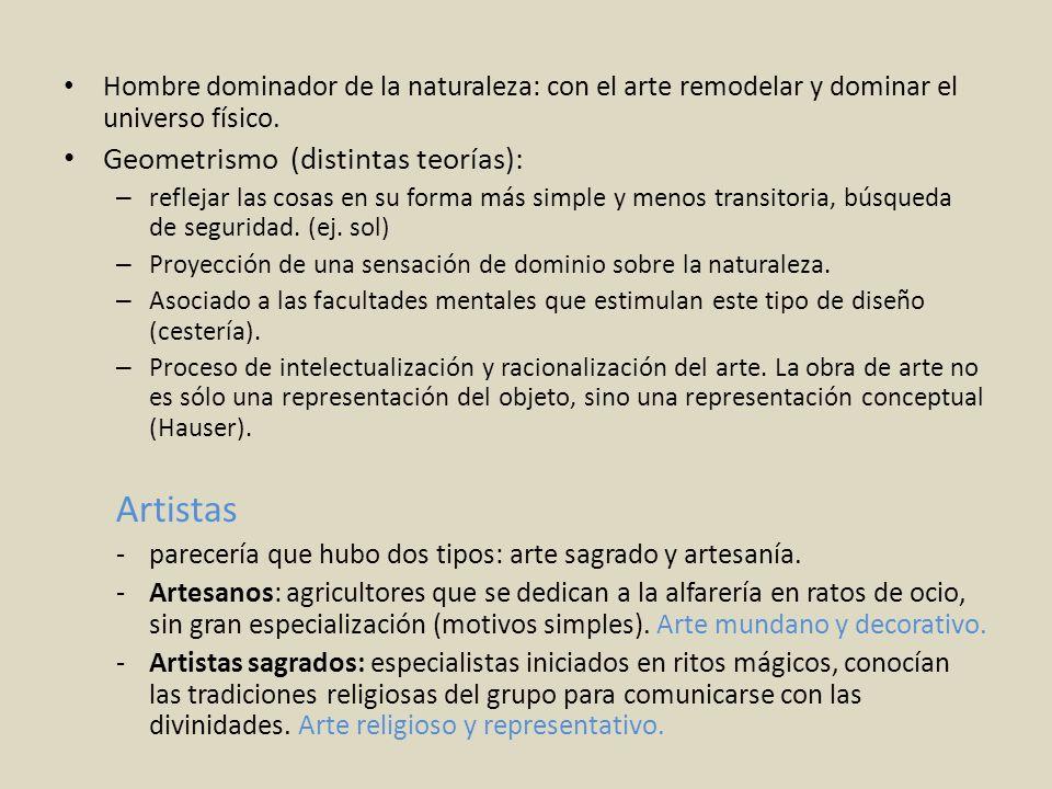 Artistas Geometrismo (distintas teorías):