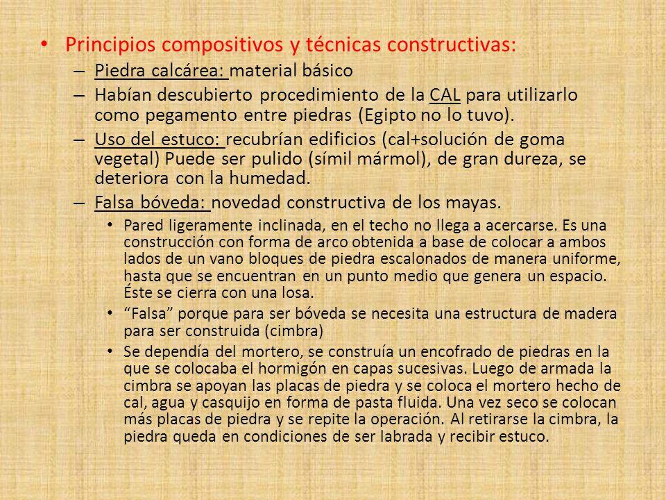 Principios compositivos y técnicas constructivas: