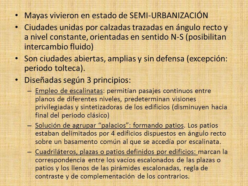 Mayas vivieron en estado de SEMI-URBANIZACIÓN