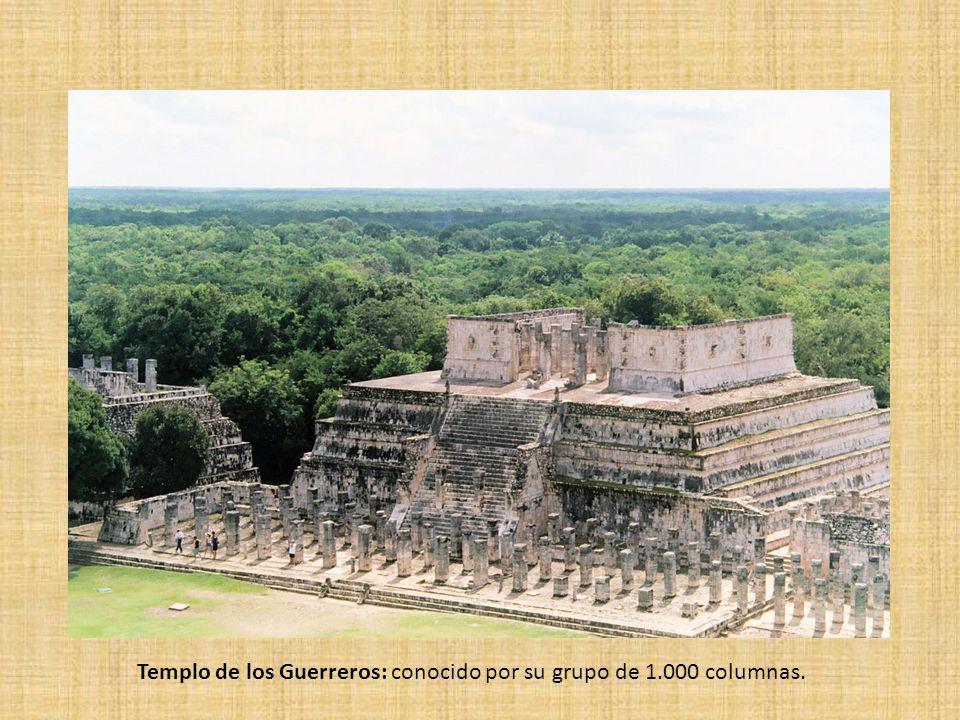 Templo de los Guerreros: conocido por su grupo de 1.000 columnas.