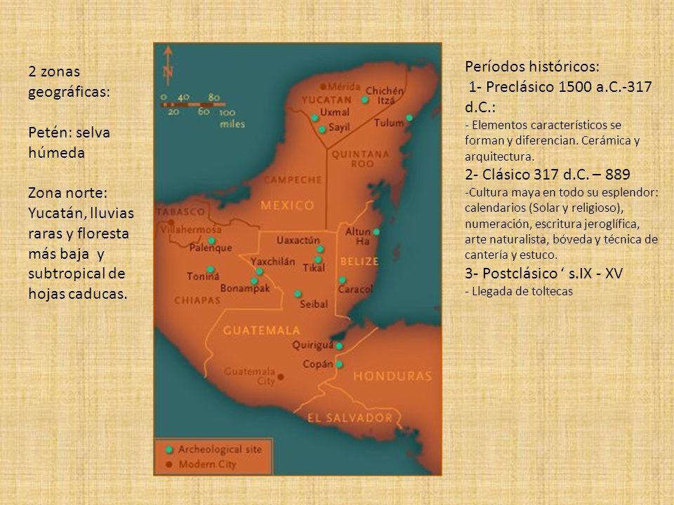 Períodos históricos: 2 zonas geográficas: