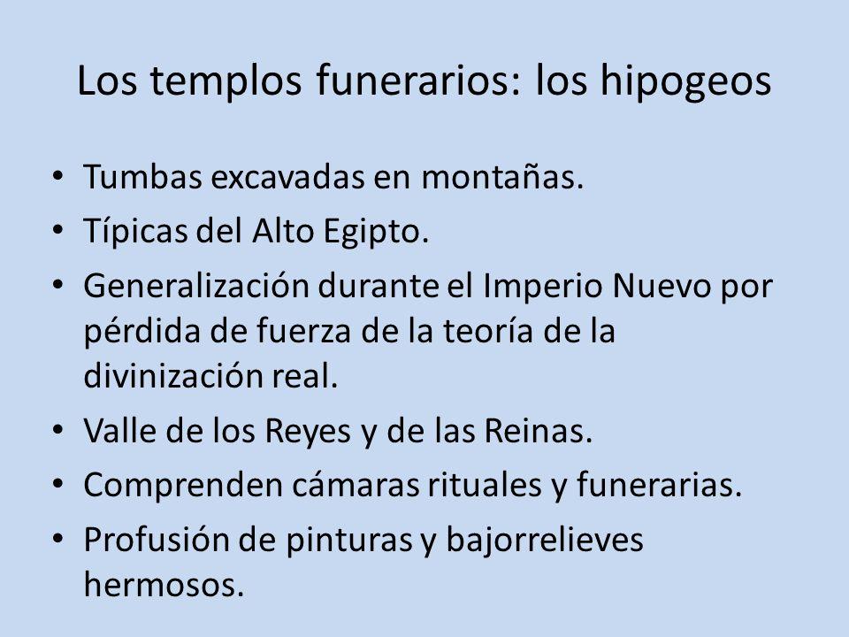 Los templos funerarios: los hipogeos