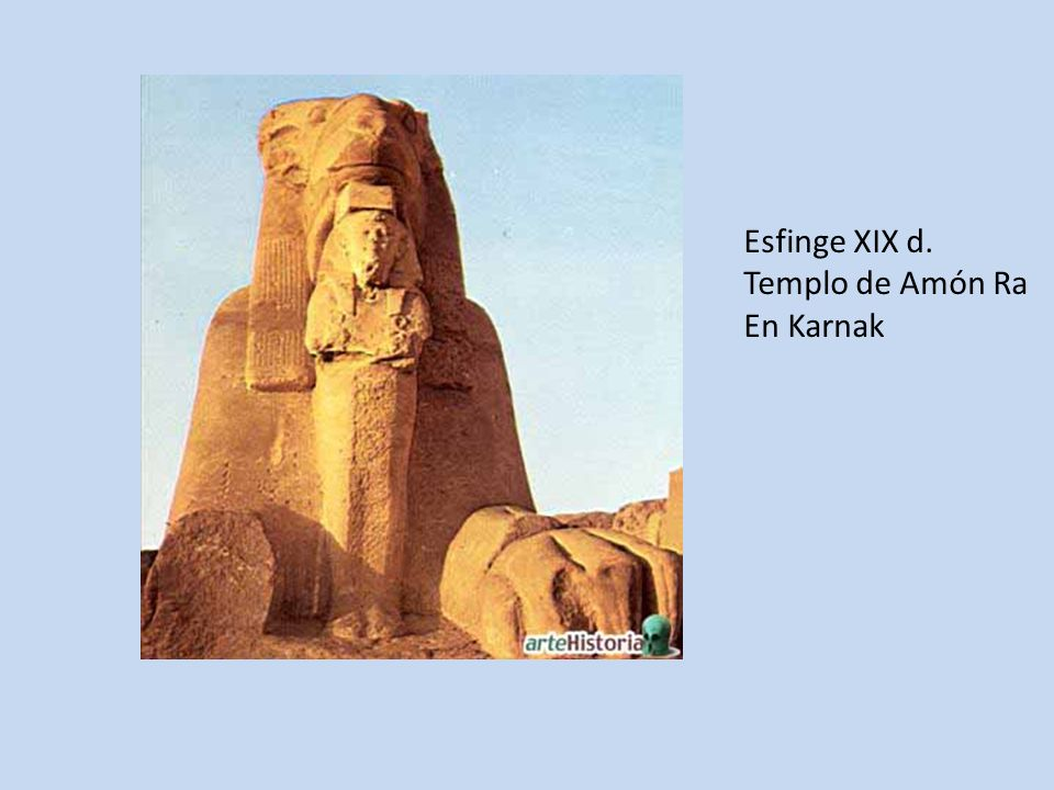 Esfinge XIX d. Templo de Amón Ra En Karnak