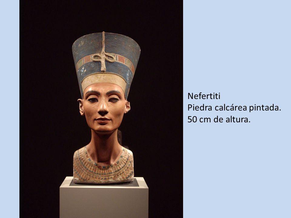 Nefertiti Piedra calcárea pintada. 50 cm de altura.