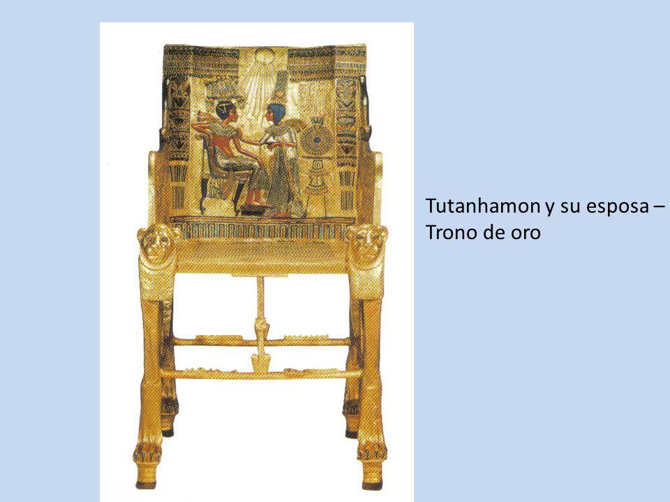 Tutanhamon y su esposa –