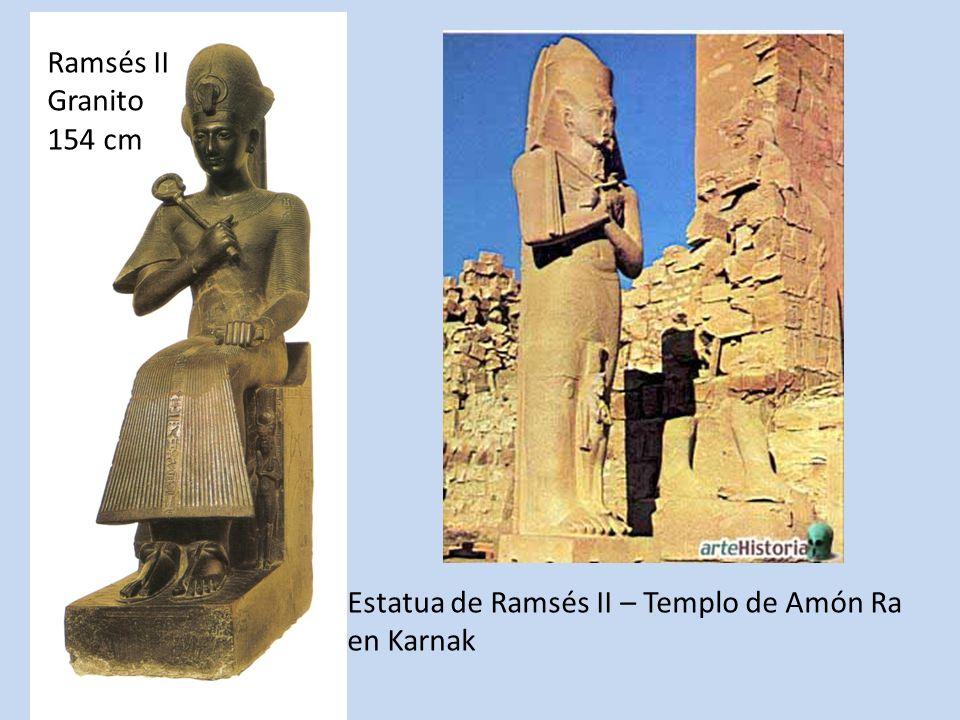 Ramsés II Granito 154 cm Estatua de Ramsés II – Templo de Amón Ra en Karnak