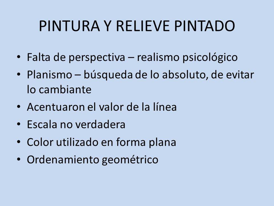 PINTURA Y RELIEVE PINTADO