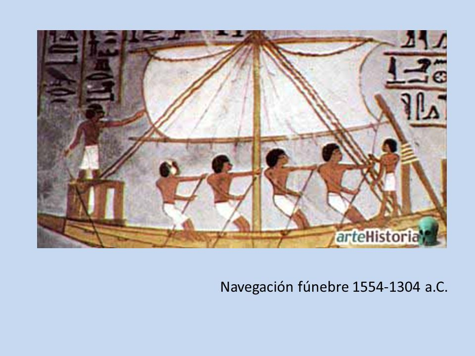 Navegación fúnebre 1554-1304 a.C.