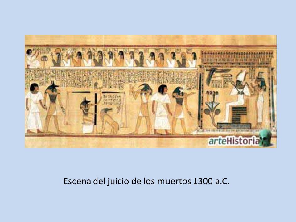 Escena del juicio de los muertos 1300 a.C.