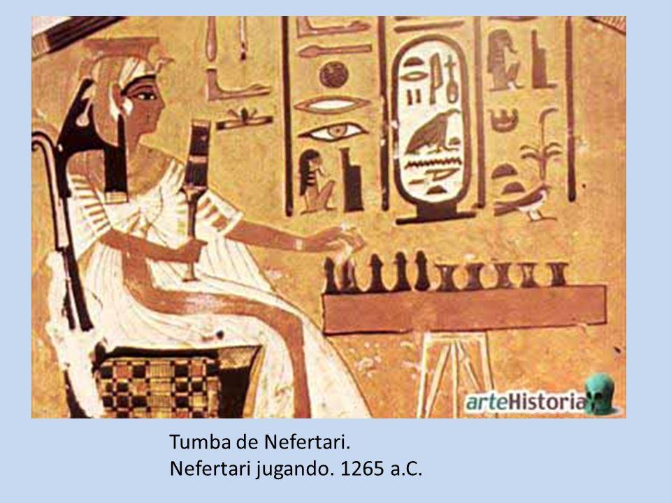 Tumba de Nefertari. Nefertari jugando. 1265 a.C.