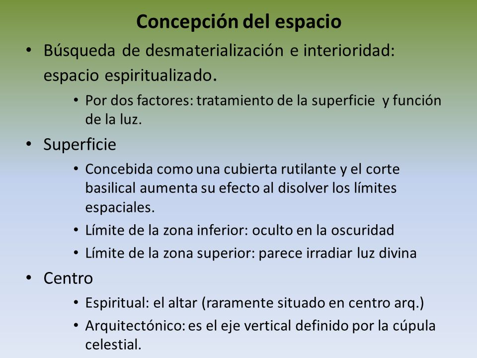 Concepción del espacio