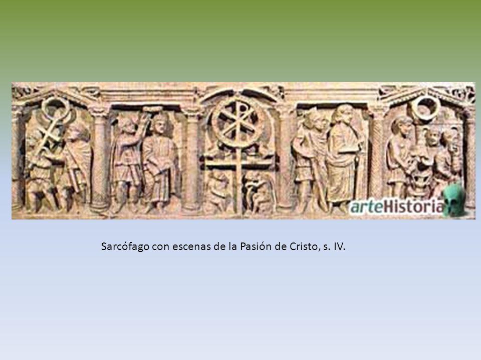 Sarcófago con escenas de la Pasión de Cristo, s. IV.