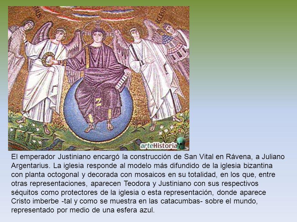 El emperador Justiniano encargó la construcción de San Vital en Rávena, a Juliano Argentarius.