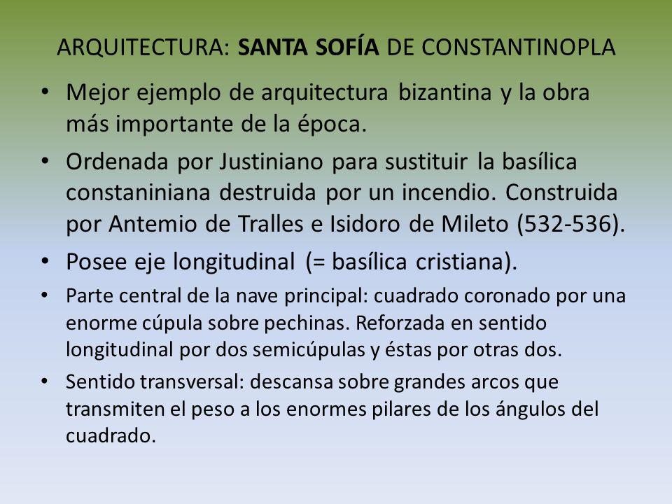 ARQUITECTURA: SANTA SOFÍA DE CONSTANTINOPLA