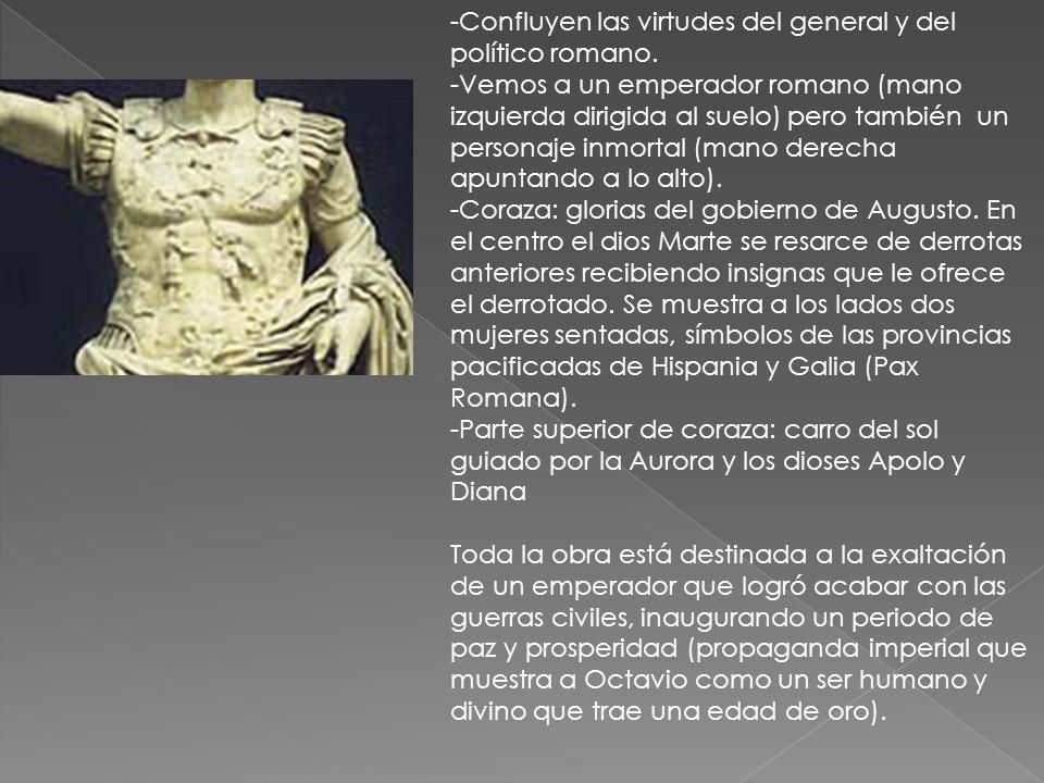 Confluyen las virtudes del general y del político romano.