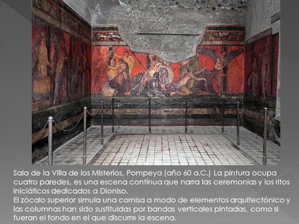 Sala de la Villa de los Misterios, Pompeya (año 60 a. C