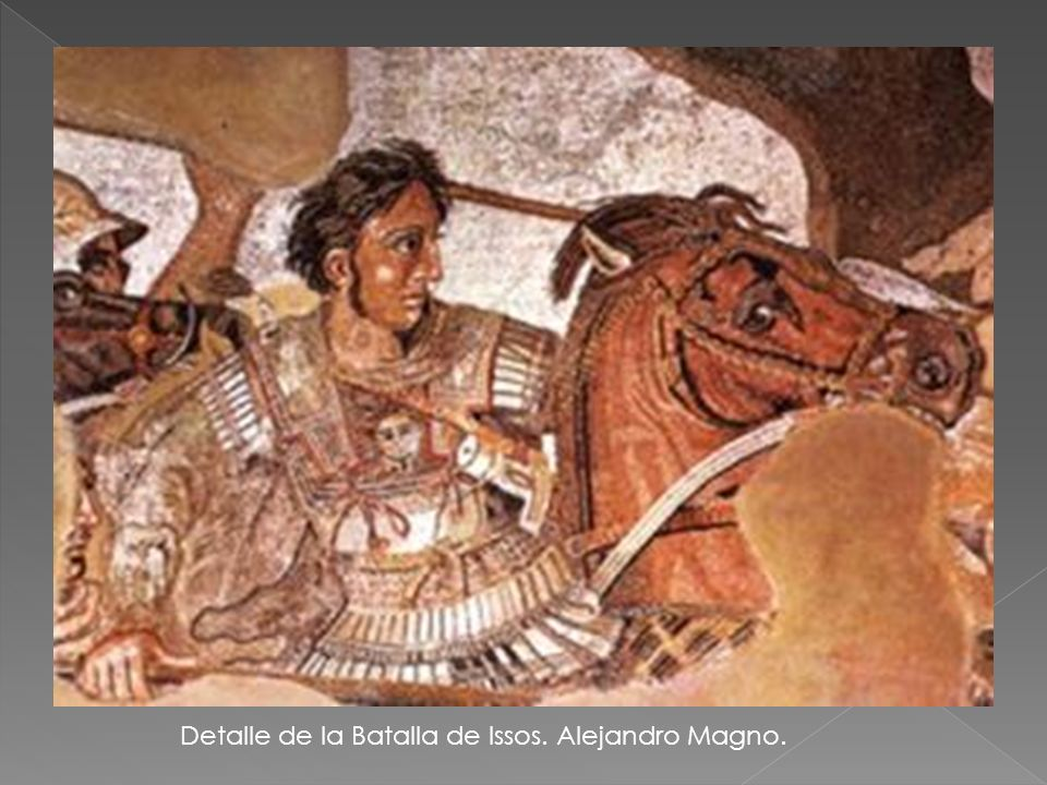 Detalle de la Batalla de Issos. Alejandro Magno.