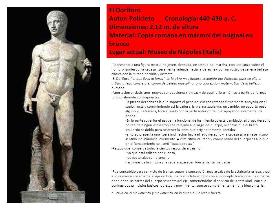 Autor: Policleto Cronología: 440-430 a. C.