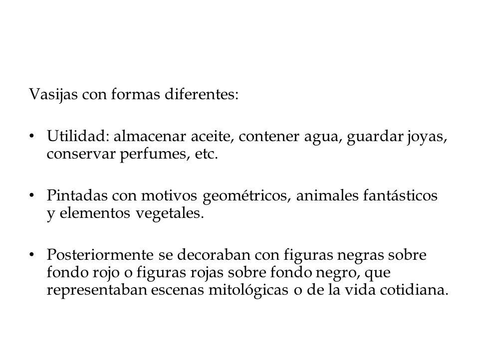 Vasijas con formas diferentes: