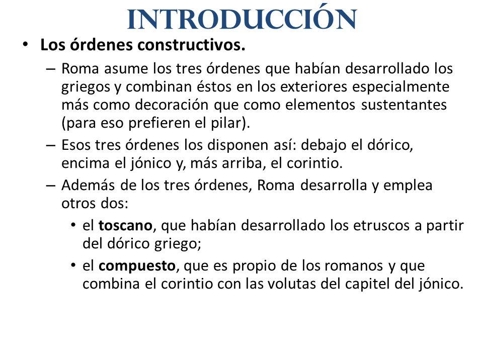 Introducción Los órdenes constructivos.