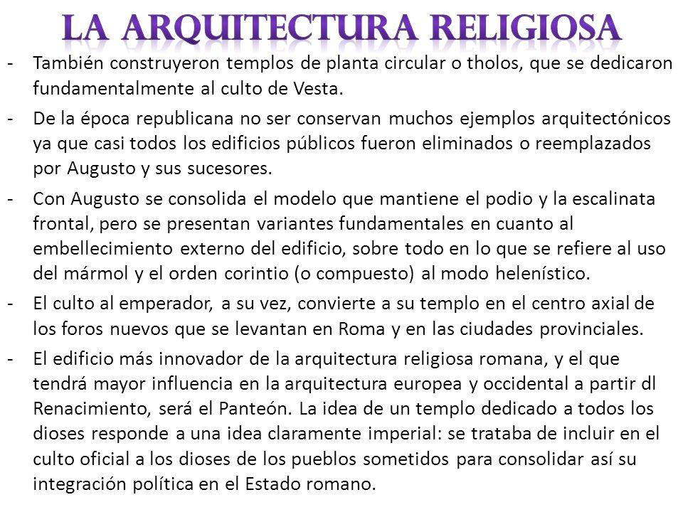 LA ARQUITECTURA RELIGIOSA