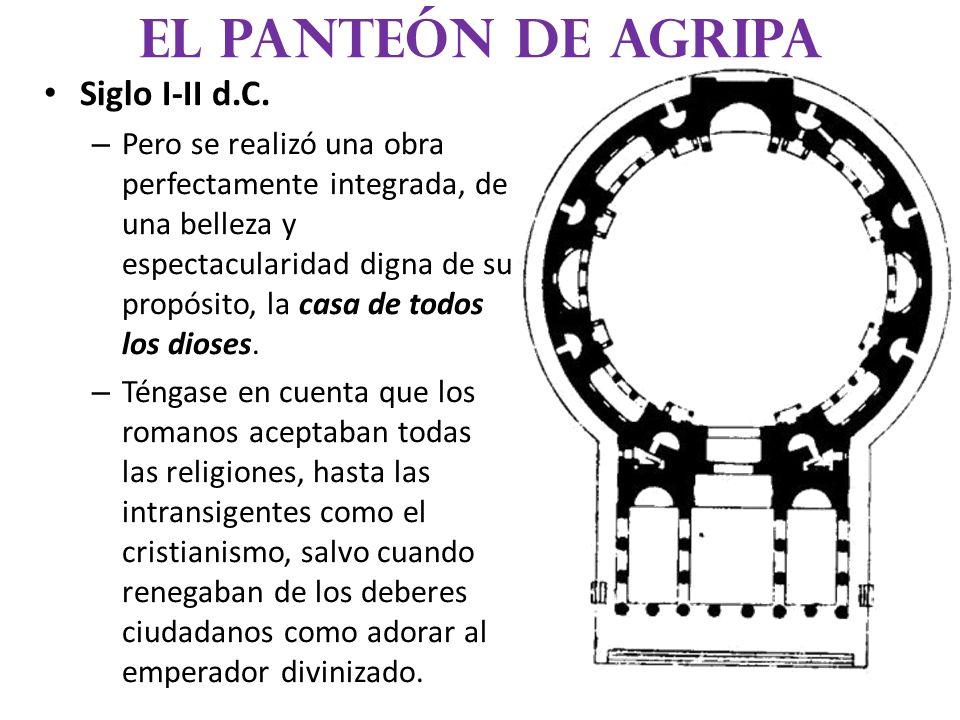 El panteón de agripa Siglo I-II d.C.