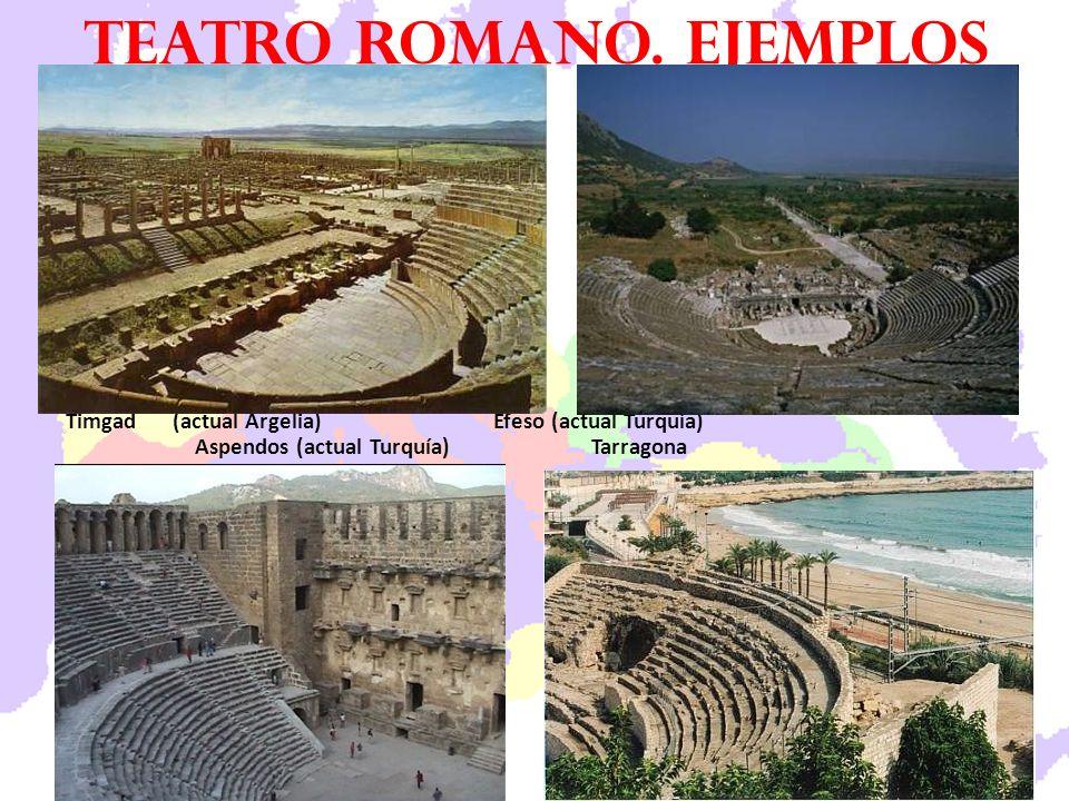 Teatro romano. ejemplos