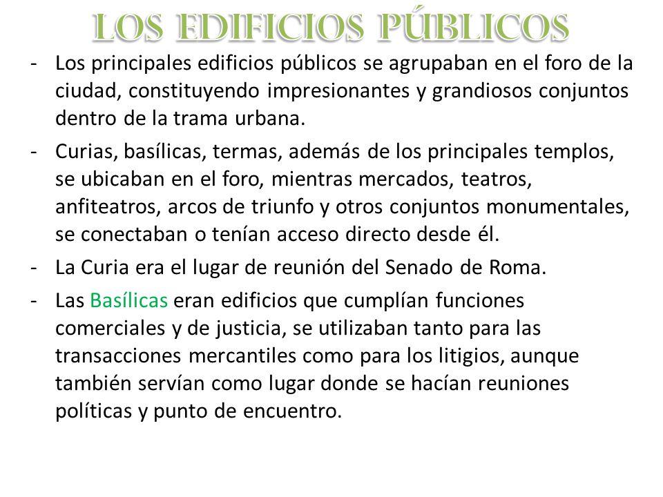 LOS EDIFICIOS PÚBLICOS