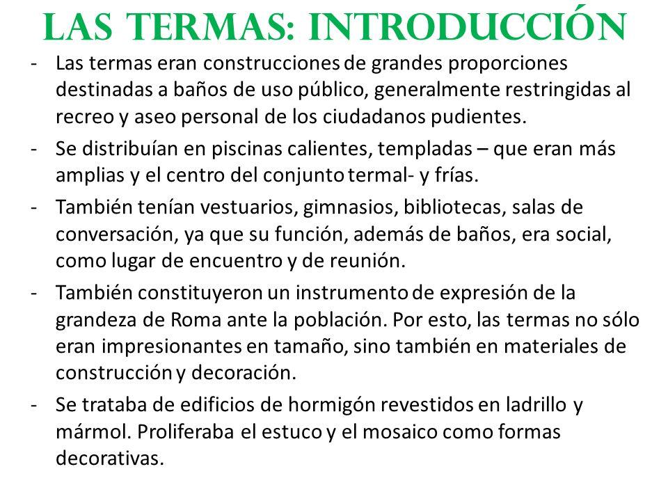Las termas: Introducción