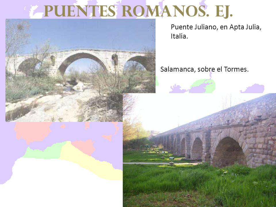 puentes romanos. EJ. Puente Juliano, en Apta Julia, Italia.