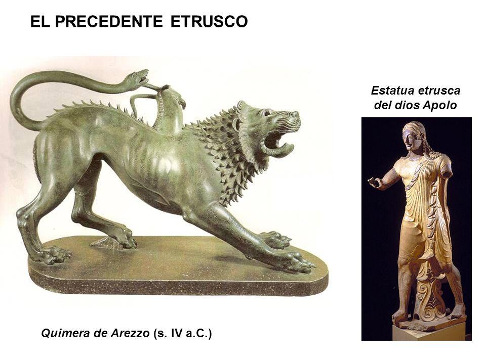 Estatua etrusca del dios Apolo Quimera de Arezzo (s. IV a.C.)