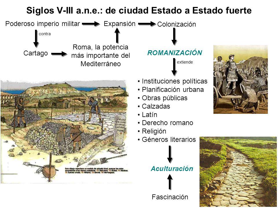Siglos V-III a.n.e.: de ciudad Estado a Estado fuerte