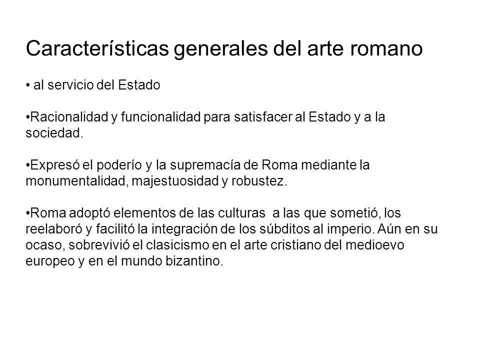 Características generales del arte romano